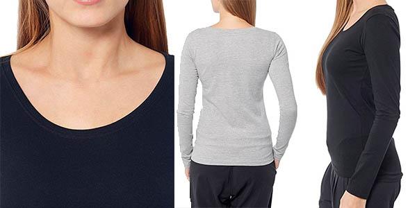 camisetas interior cómodas de manga larga para mujer con gran relación calidad-precio