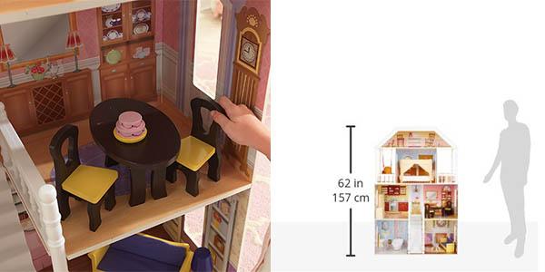 casa de muñecas infantil de grandes dimensiones con accesorios KidKraft relación calidad-precio brutal