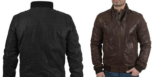 cazadora de cuero para hombre de diseño casual !Solid Dash con gran relación calidad-precio