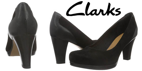 Clarks Chorus Chic zapatos de vestir con tacón para mujer chollo