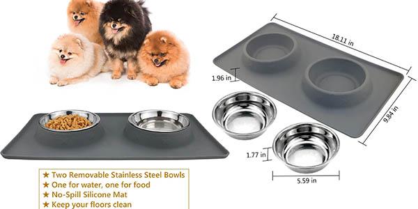 comedero para mascotas para agua y comida resistente y barato
