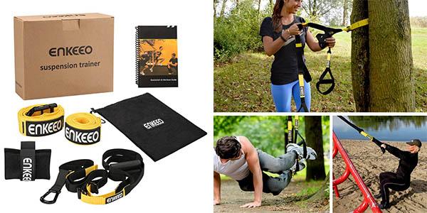 conjunto de entrenamiento con cintas supensión resistentes para puertas y árboles genial relación calidad-precio