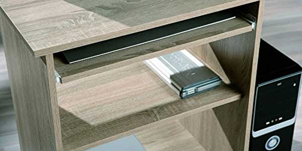 Escritorio de madera prensada Links Durini con acabados color roble sonoma para ordenador barato en Amazon