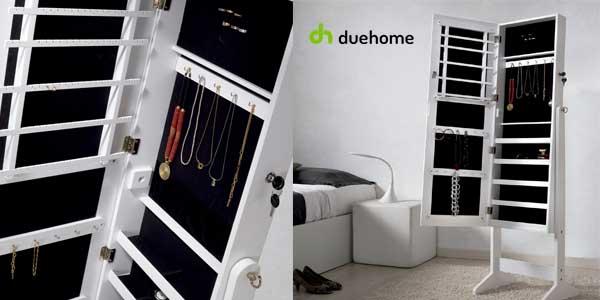 Espejo joyero Duehome organizador joyas lacado blanco chollazo en eBay