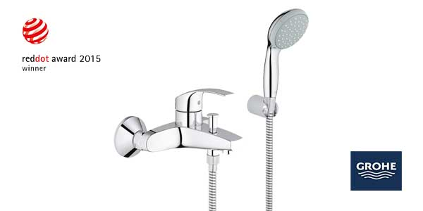 Grohe 33302002 EcoJoy - Grifo mezclador de bañera y set de ducha chollo en Amazon