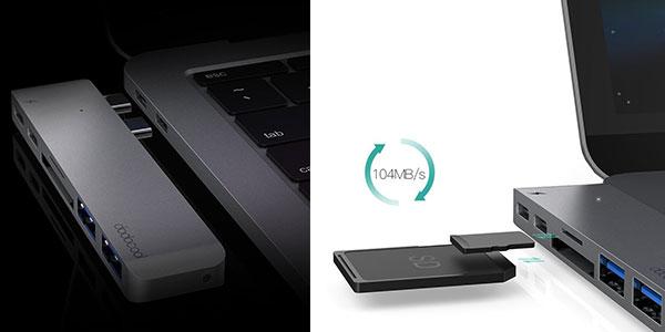 Hub Dodocool USB de tipo C para MacBook Pro 2016/2017 al mejor precio