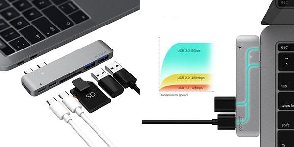 Hub USB de tipo C para MacBook Pro 2016/2017