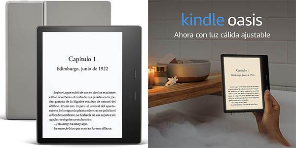 """Kindle Oasis de 7"""" con luz cálida ajustable en Amazon"""