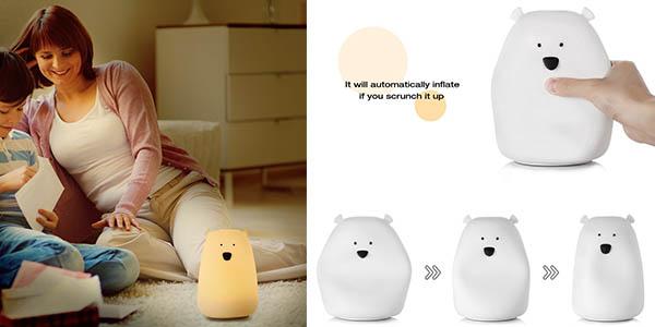 lámpara infantil en silicona blanda Inlife recargable con USB barata