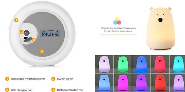 lámpara osito ideal para niñ@s con varias combinaciones de color fácil de regular