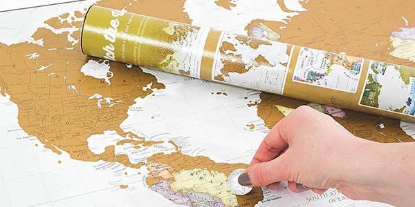 mapamundi para rascar ideal regalo viajer@s
