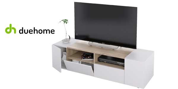 Mueble de salón y TV Duehome Tamiko blanco artik y roble canadian chollazo en eBay