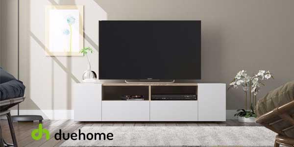 Mueble de salón y TV Duehome Tamiko blanco artik y roble canadian chollo en eBay