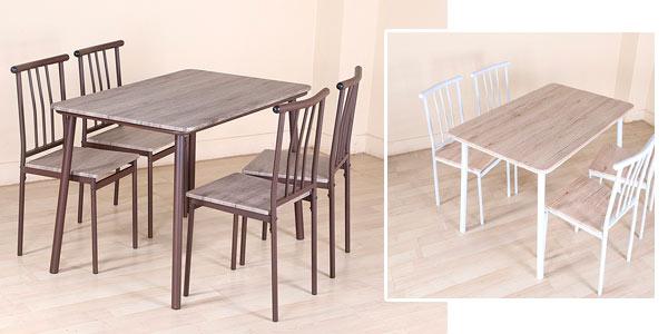 Mesa y sillas de comedor Ironstone baratas en Amazon