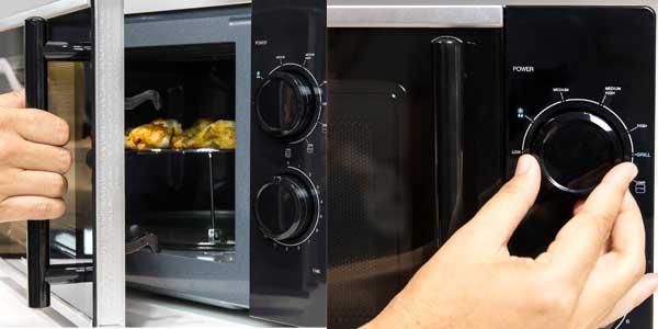 Microondas Cecotec Silver 1363 con grill de 900W y 20L de capacidad barato en Amazon