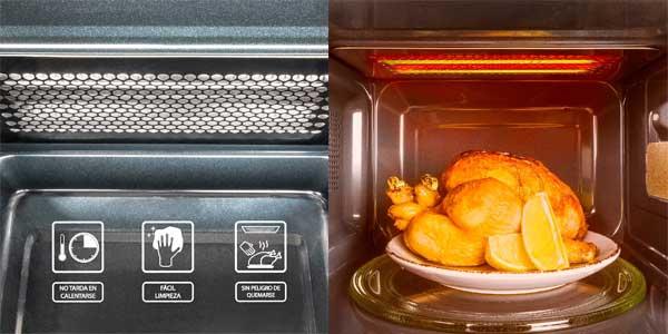 Microondas Cecotec Silver 1363 con grill de 900W y 20L de capacidad chollazo en Amazon