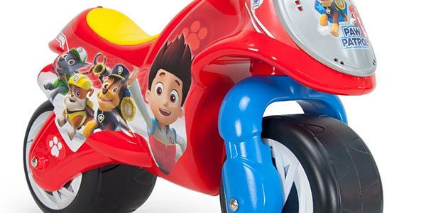 moto infantil de plástico resistente Patrulla Canina para niñ@s a partir de 2 años chollo