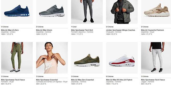 ofertas en zapatillas y ropa deportiva Nike 11 de noviembre de 2017