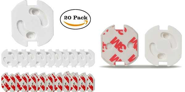 Pack de 20 protectores de enchufes con sistema de giro chollo en Amazon