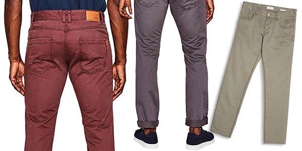 pantalones de estilo casual fino para hombre cómodos EDC by Esprit