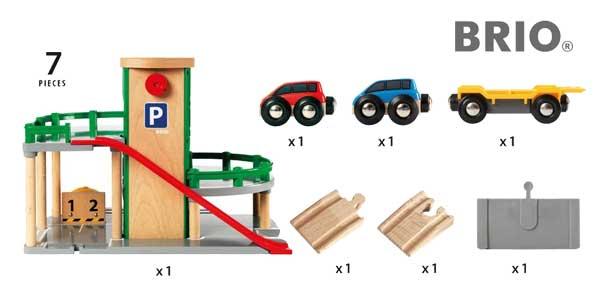 Parking Brio para coches de juguete barato en Amazon