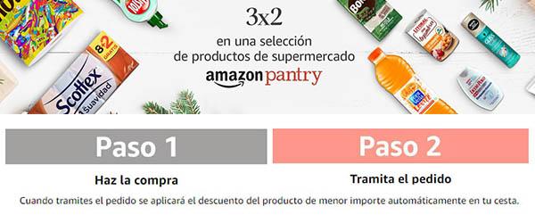 promoción productos Supermercado Amazon Pantry 3x2