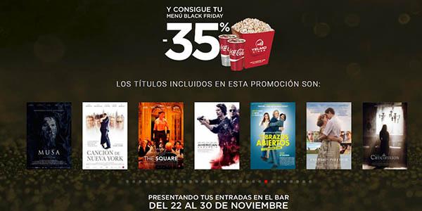 promoción Yelmo cines Black Friday