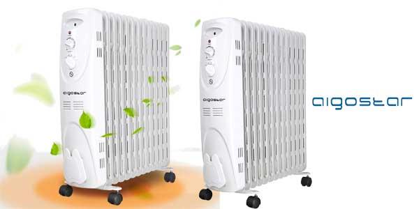 Radiador de aceite Aigostar Warm Snow 33JHF portátil de 13 elementos, 2500W, 3 ajustes chollo en Amazon
