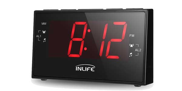 Radio Reloj Digital INLIFE con Gran Pantalla LCD chollo en Amazon