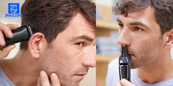 Recortador Philips MG3730/15 con 8 accesorios de precisión para barba, nariz y orejas chollazo en Amazon