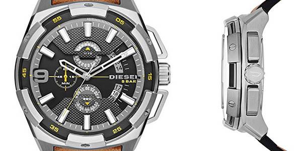 reloj analógico de diseño casual con correa de cuero Diesel Heavyweight chollo