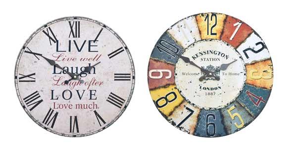 Relojes de pared retro Home sweet Home baratos en Amazon