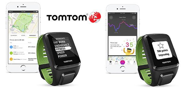 Pulsera de actividad Tomtom Runner 3 Cardio + Music negra y verde de talla grande