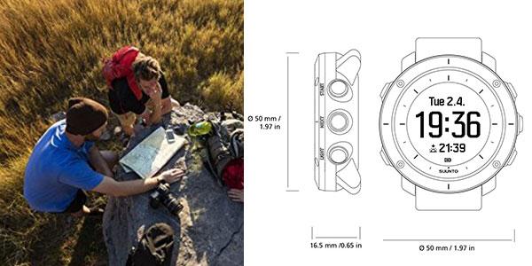 Reloj Suunto Traverse de excursionismo y senderismo sumergible y con 100 horas de batería rebajado
