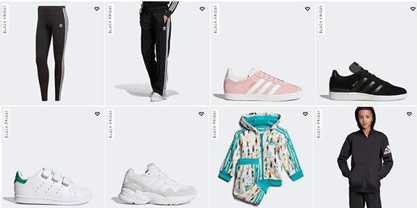 ropa y complementos de deporte Adidas en el Black Friday 2019