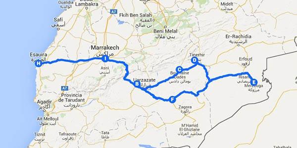 ruta de 10 días por el desierto Marruecos en grupo