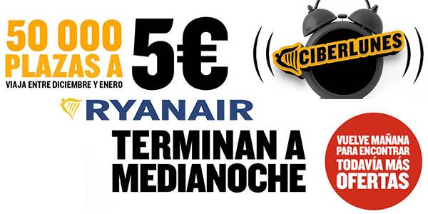 Ryanair vuelos en oferta durante el Cyber Monday 2019