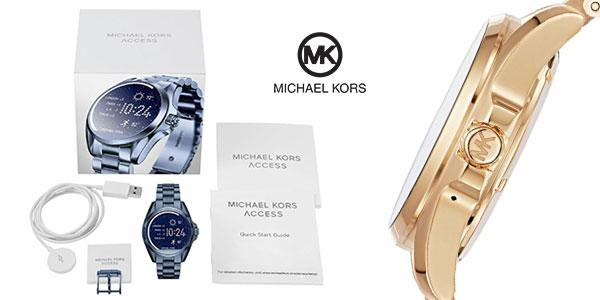 Smartwatch Michael Kors Access Bradshaw oro y azul para mujer rebajado