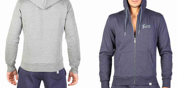 sudadera con bolsillos en algodón cómoda y de diseño casual para hombre