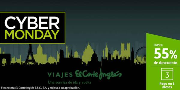 viajes El Corte Inglés Cyber Monday 2019