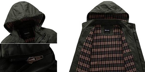Wantdo chaqueta ligera de diseño casual chollo