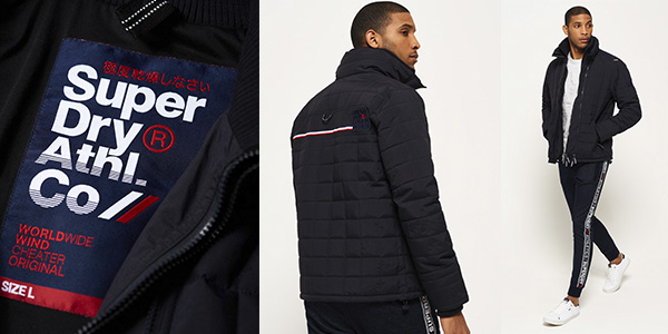 abrigo impermeable casual Superdry Quilted Athletic Windcheater oferta