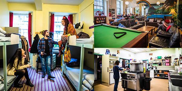 albergue High Street Hostel Edimburgo relación calidad-precio brutal