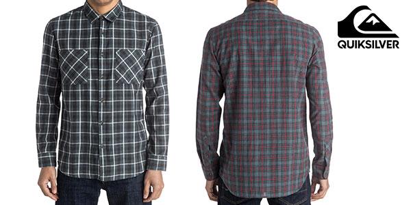 Camisa casual de cuadros Quiksilver Five A Side para hombre rebajada