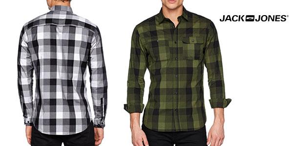 Camisa Jack & Jones de cuadros para hombre rebajada