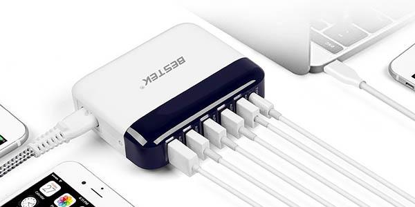 Cargador USB pared Bestek en Amazon