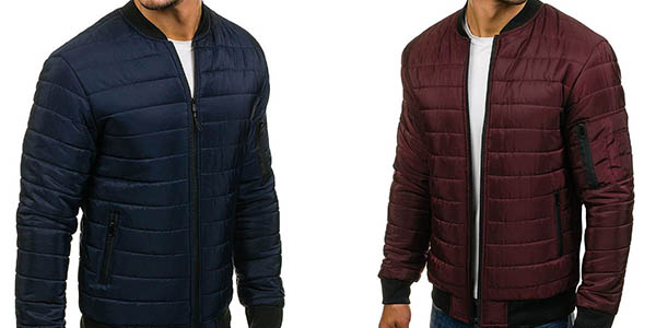 chaqueta tipo plumón Bolf para hombre diseño casual chollo