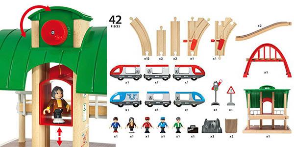 circuito de trenes de madera para niñ@s de 3 años oferta