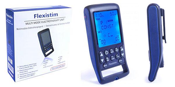 Electroestimulador TensCare Flexistim con EMS, TENS, IFT y microcorriente rebajado