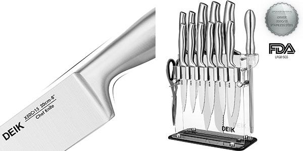 Juego de cuchillos cocina Deik de 11 piezas barato